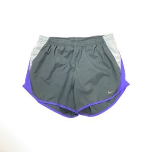 Nike Dri-Fit Gray & Purple Athletic Shorts Small
